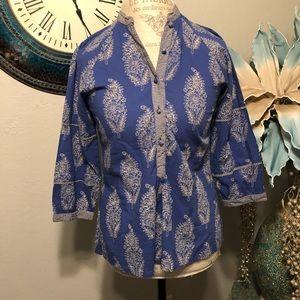 Anokhi popover blouse